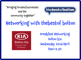 Networking Breakfast With thebestof bolton and Bolton K...
