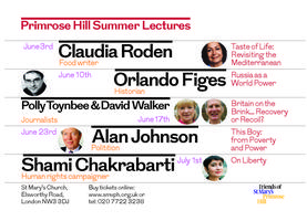 Primrose Hill lecture Series 2015: ALAN JOHNSON