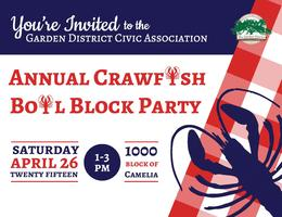 GDCA Annual Crawfish Boil Block Party