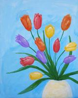 Pa'ina Paint Club - A Tulip Bouquet for Mothers' Day
