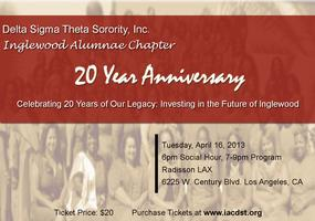 Inglewood Alumnae Chapter 20 Year Anniversary...