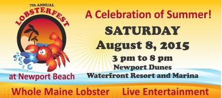 7th Annual Lobsterfest at Newport Beach