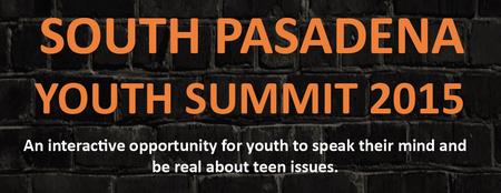 South Pasadena Youth Summit