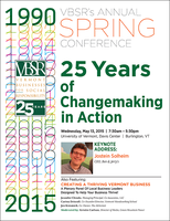 VBSR's Annual Spring Conference: 25 Years of...