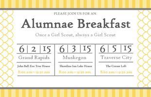 2015 Muskegon Girl Scouts Alumnae Breakfast