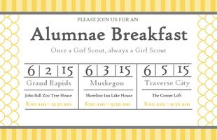 2015 Traverse City Girl Scouts Alumnae Breakfast