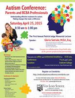 Autism Conference: Parents and BCBA Professionals