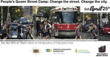 People's Queen Street Camp: Change street. Change the...
