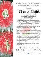 PTO 'Ohana Night - 4/30/15