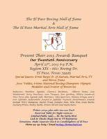 El Paso Boxing & Martial Arts Hall of Fames Award...
