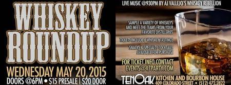 Whiskey Roundup at TenOak Bourbon House + Kitchen