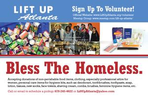 Bless the Homeless Event = Volunteers Needed