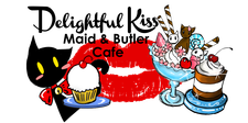 Delightful Kiss Maid and Butler Cafe logo