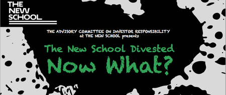 The New School Divested, NOW WHAT?