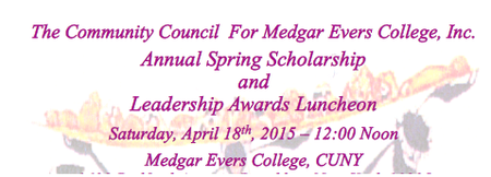 The Community Council for Medgar Evers College, Inc....