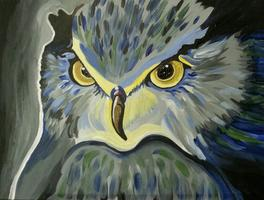 Owl painting party for red wine lovers!