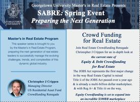 Georgetown University Master's in Real Estate SABRE...