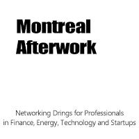 Montreal Afterwork - Networking Drinks for...