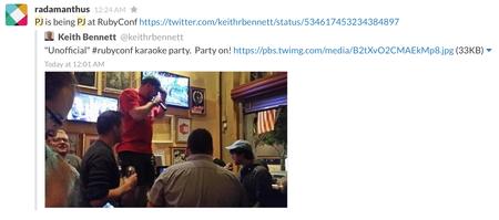 RailsConf Ruby Karaoke!