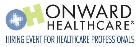 Onward Healthcare Hiring Event