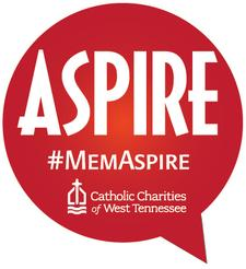 Aspire; the Young Professional's network of Catholic Charities of West Tennessee logo