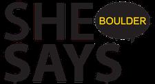 SheSays Boulder  logo
