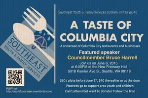 A TASTE OF COLUMBIA CITY with SEYFS and Bruce Harrell