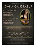 Guitar concert with Ioana Gandrabur, Kingston