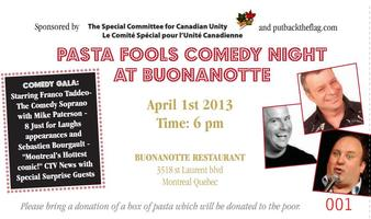 Pasta Fools Comedy Night at Buonanotte