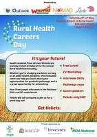Rural Health Careers Day Sat 9th May