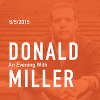Author Donald Miller in Augusta   June 5, 2015