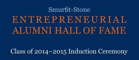 SLU's Entrepreneurial Alumni Hall of Fame 2014-15...