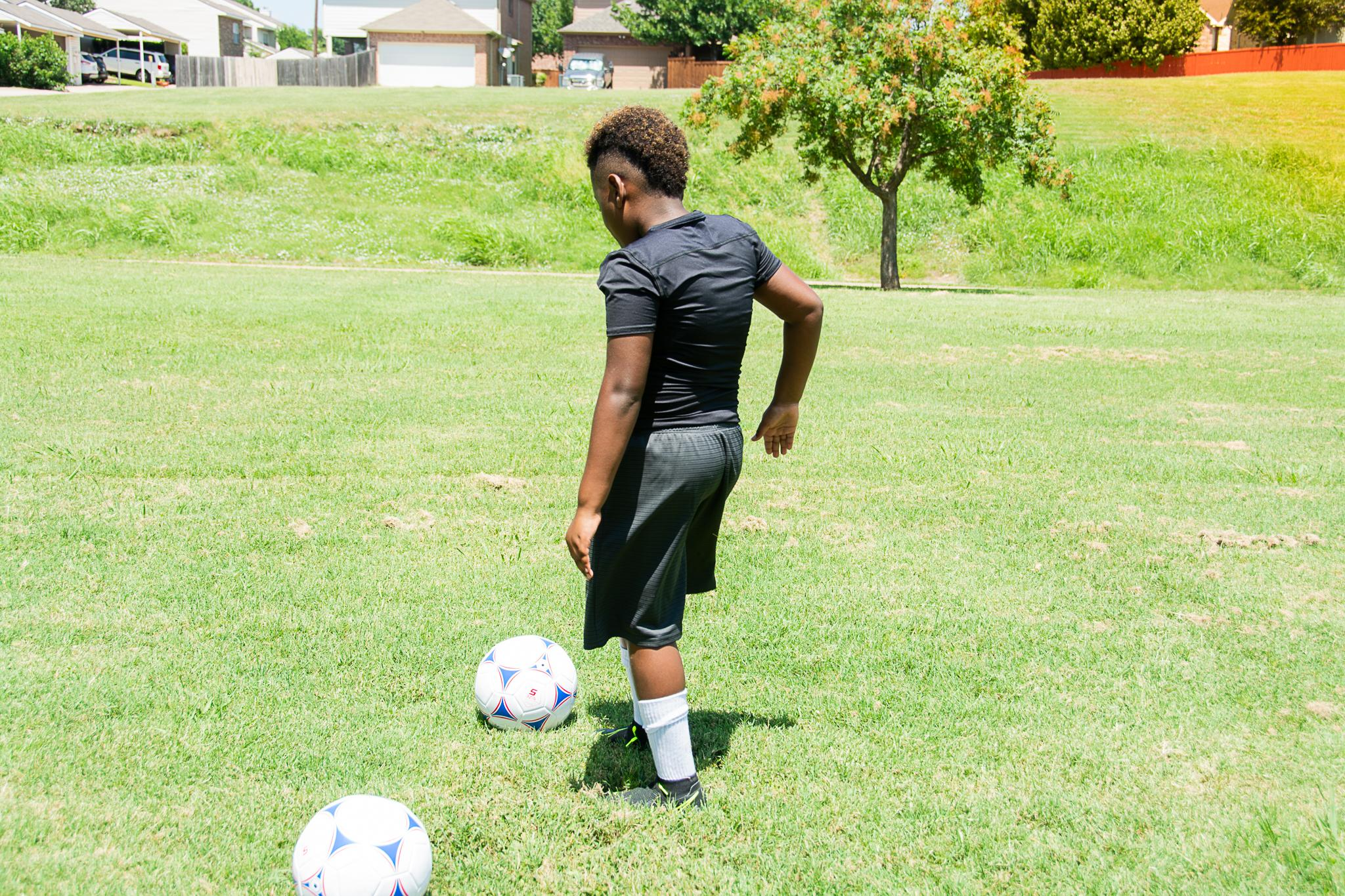 Soccer one on one training