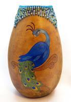 Gourd Art Class: Majestic Peacock