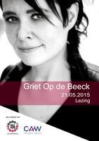 Lezing Griet Op de Beeck 21 mei 2015