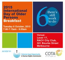 International Day of Older Persons Breakfast
