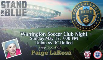 Warrington Soccer Club Night At The Union - Supporting...