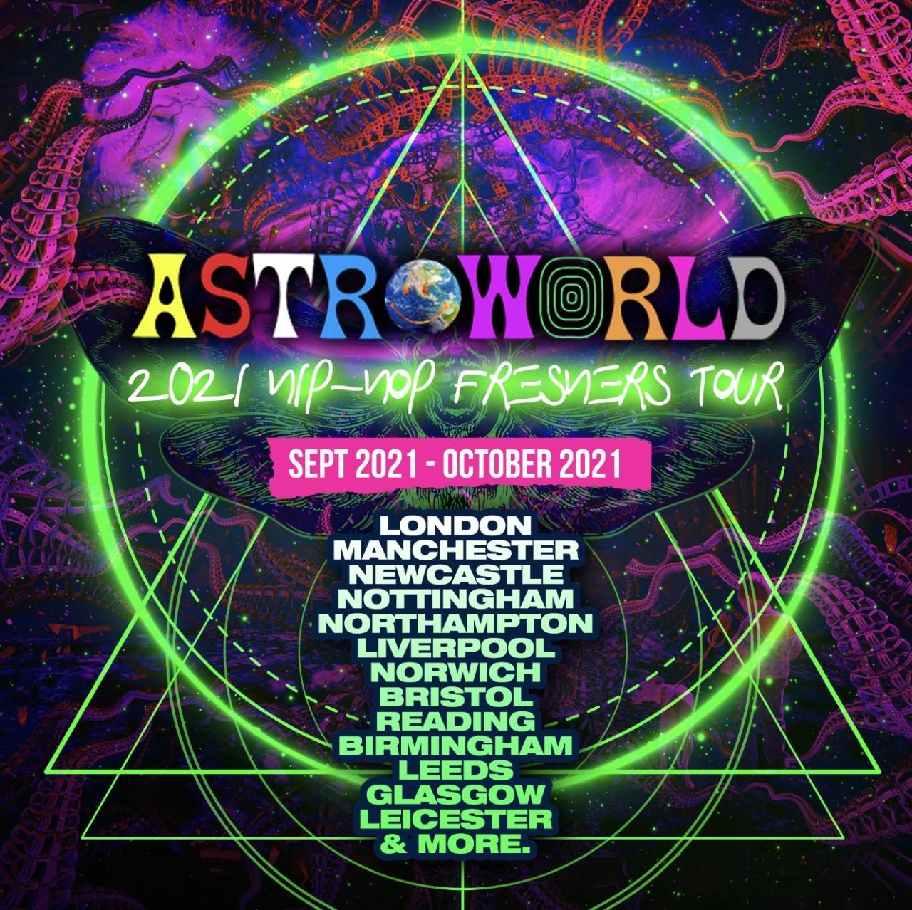 ASTROWORLD - 2021 Hip-Hop Freshers Tour (Package)