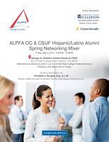 ALPFA OC Spring Networking Mixer with CSUF...