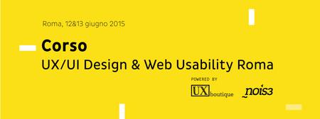 Corso UX/UI Design & Web Usability Roma