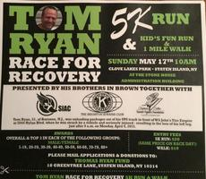 """Tom Ryan """"Race For Recovery"""""""