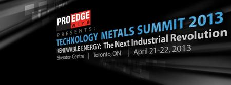 Technology Metals Summit - Renewable Energy: the next...
