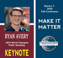 2015 District 7 Fall Conference: Make it Matter