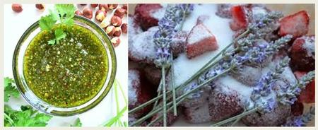 Hazelnut Pesto and Strawberry Rhubarb Lavender Marmalad...