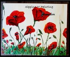 Sip N' Paint Red Poppies Sun, May 26th 4pm $20