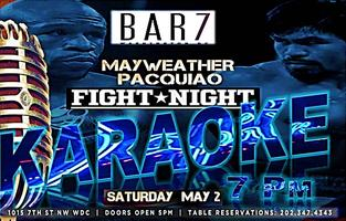 Bar 7 Fight Night Karaoke at 7 PM