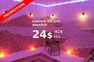 La Salière : 24$* une séance de 50 min d'halothérapie