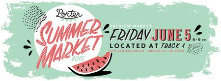 Porter Flea Summer Preview Market