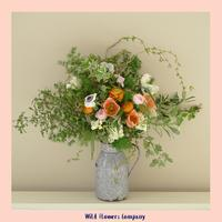 Arranging British flowers