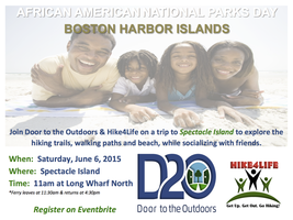 African American National Parks Day at Spectacle Island